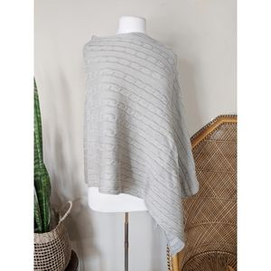 INITIALS Cable Knit Cape Poncho
